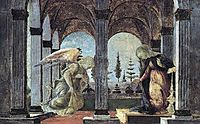 Annunciation, 1500, botticelli