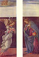The Annunciation, 1500, botticelli