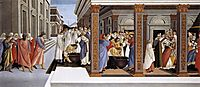 Baptism of the Holy Zénobe and his appointment as bishop, 1500-05, botticelli