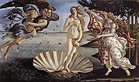 The Birth of Venus, 1485, botticelli