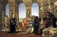 Calumny of Apelles, 1494-95, botticelli