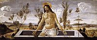 Christ in the tomb, 1488, botticelli