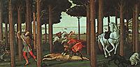History degli Onesti Nastagio second episode, 1483, botticelli