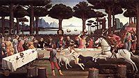 History degli Onesti Nastagio third episode, 1483, botticelli