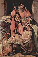 Lamentation over the Dead Christ, 1490, botticelli