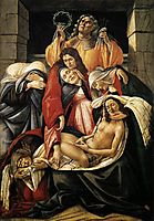 Lamentation over the Dead Christ, 1495, botticelli