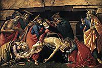 Lamentation over the Dead Christ with Saints, 1490, botticelli