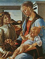 Madonna and Child with an Angel, botticelli