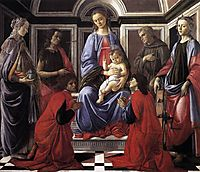 Madonna and Child with Six Saints, c.1470, botticelli