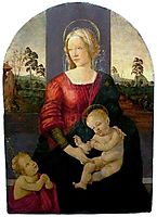 Madonna and Child with St. John the Baptist, botticelli