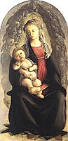Madonna in Glory with Seraphim, 1470, botticelli
