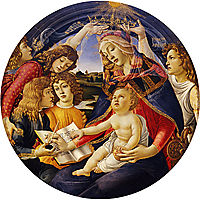 Madonna of the Magnificat, 1481, botticelli
