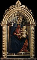 Madonna of the Rosegarden, 1470, botticelli