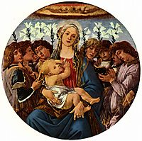 Madonna with Child and Singing Angels, c.1477, botticelli