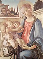 Madonna with two angels, c.1468, botticelli