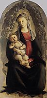 Madonna in Glory with Seraphim, 1469-70, botticelli