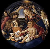 Madonna of the Magnificat, 1480-81, botticelli