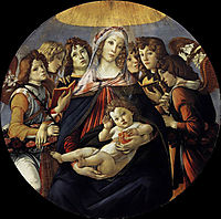 Madonna with Pomegranate, 1487, botticelli