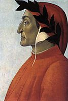 Portrait of Dante, 1495, botticelli