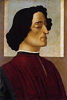 Portrait of Giuliano de Medici, 1475, botticelli