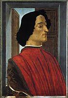 Portrait of Giuliano de Medici, 1476-77, botticelli