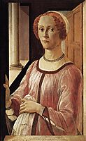 Portrait of a Lady, 1470-75, botticelli