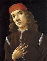Portrait of a young man, 1483, botticelli
