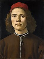 Portrait of a Young Man, 1483, botticelli