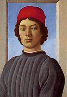 Portraitof a young manwith redcap, 1477, botticelli