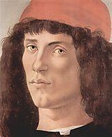 Portraitof a youngmanwith redcap, c.1474, botticelli