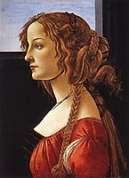 Portrait of a young woman, 1480-85, botticelli