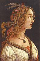 Portraitof a youngwoman, 1485, botticelli