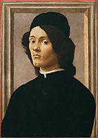 Portrait of a Youth, 1490, botticelli