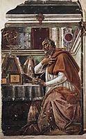 Saint Augustine, 1480, botticelli