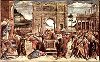 Scene from the Life of Moses, 1482, botticelli
