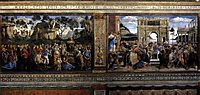 Scene from the Life of Moses (Scenes on the left), 1482, botticelli