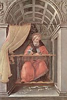 St. Augustine in his cell, 1490, botticelli