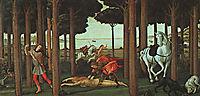 The Story of Nastagio, c.1483, botticelli