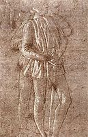 Study of two standing figures, 1475, botticelli
