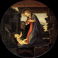 The Virgin Adoring the Child, 1490, botticelli