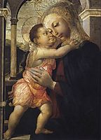 Virgin and Child, 1467, botticelli