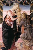 Virgin and Child with an Angel, 1467-68, botticelli