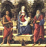 The Virgin and Child Enthroned, 1484, botticelli