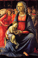The Virgin and Child surrounded by Five Angels, c.1470, botticelli
