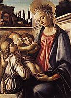 Virgin and Child and Two Angels, 1470, botticelli