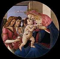 Virgin and Child with Two Angels, 1490, botticelli