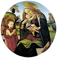 Virgin and Child with the Infant St. John the Baptistbetween, 1500, botticelli