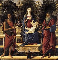 The Virgin on a throne and Child, 1484, botticelli
