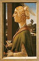 Woman with attributes of Saint Catherine, so called Catherina Sforza Sandro Botticelli, 1475, botticelli