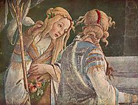 The Youth Moses (detail), 1482, botticelli